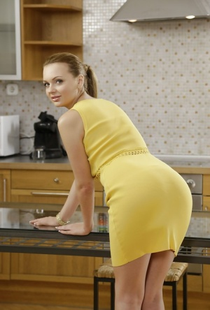 amature milf cheats in kitchen